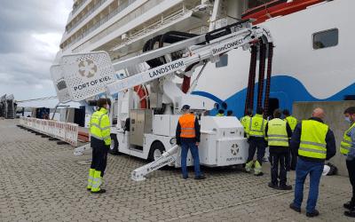 Neue Landstromanlage im Kieler Hafen offiziell eröffnet